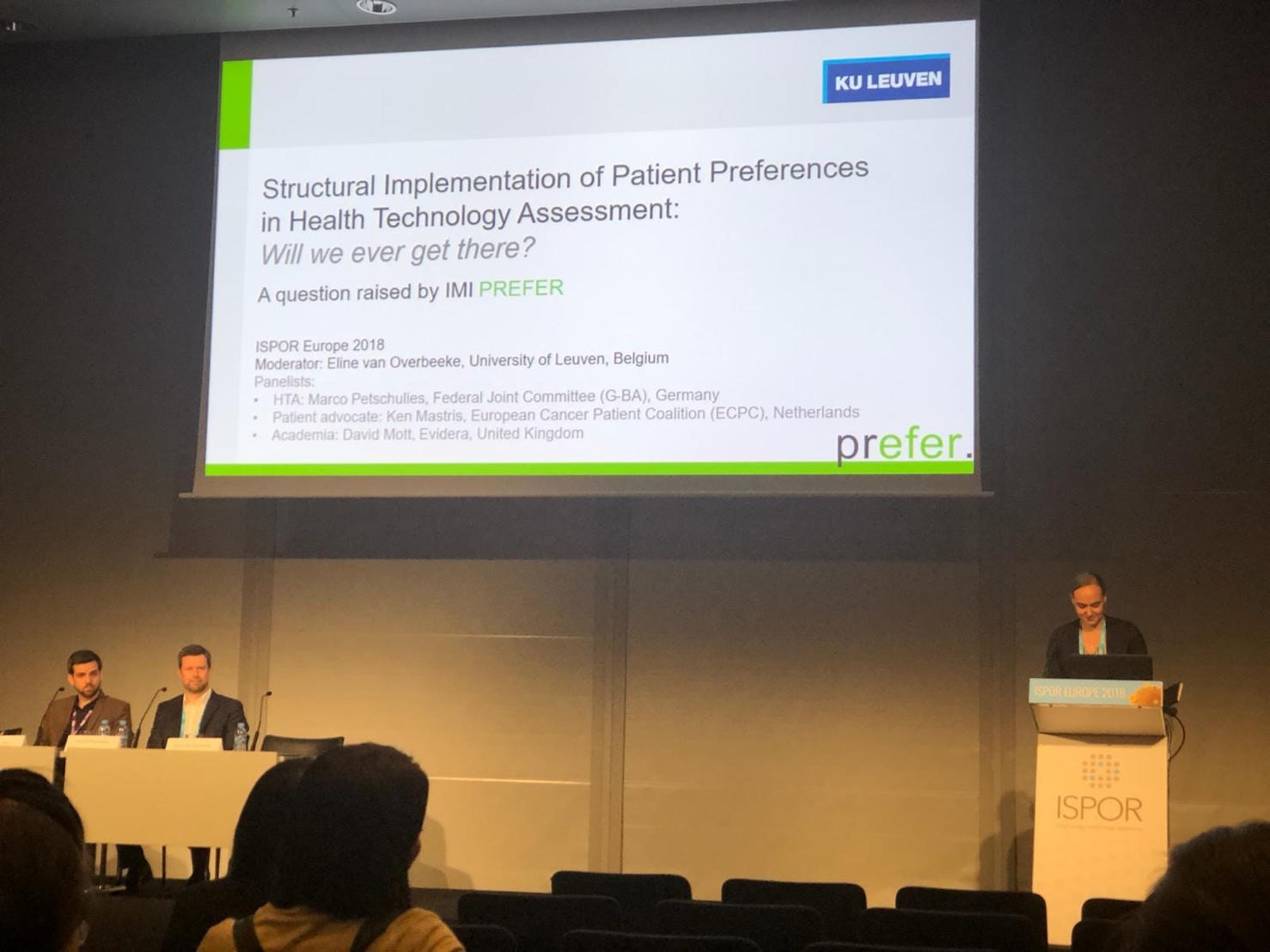 Patient preferences in HTA: ISPOR Europe 2018 Issue Panel